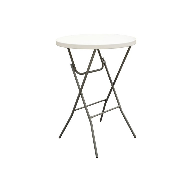 Round bar height folding table from affordable displays for Counter height folding table