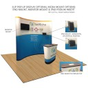 20FT 1UP STRAIGHT GRAPHIC POP-UP MEDIA KIT