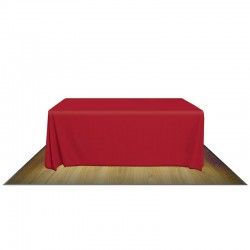 6' FULL FABRIC TABLE COVER - NO IMPRINT