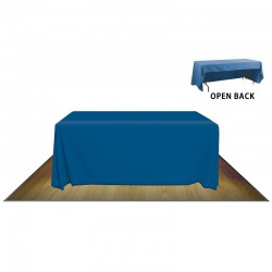 6' OPEN BACK FABRIC TABLE COVER - NO IMPRINT