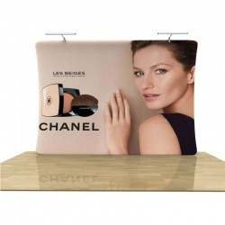 10ft Vertical Curve 1-Sided Tension Fabric Display