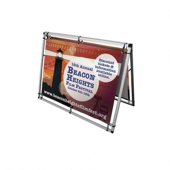4ft Horizontal A-Frame Sidewalk Sign