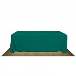 8' FULL FABRIC TABLE COVER - NO IMPRINT