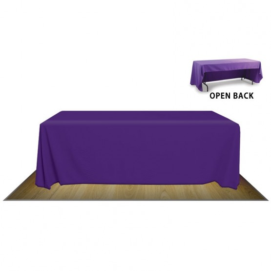 8' TABLE COVER OPEN BACK (NO IMPRINT)