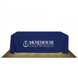 8' FULL FABRIC TABLE COVER - 1-COLOR IMPRINT