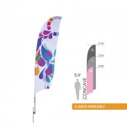 Bowflag Plus Concave Sail Sign Banner