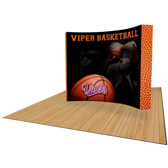 VBurst 10ft Premium Curved Pop-Up Kit 1