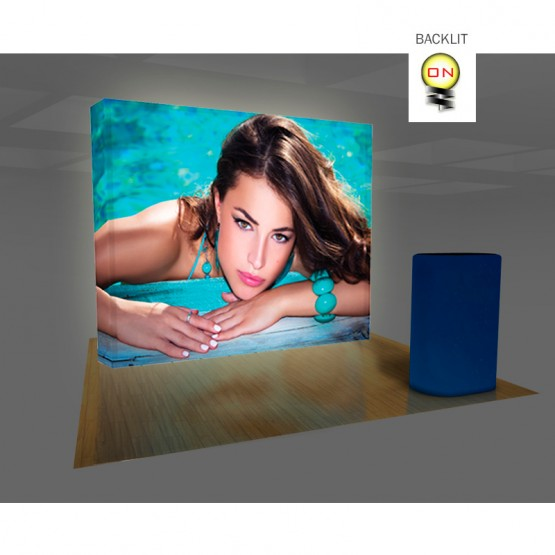 VBurst 10ft Premium Backlit Straight Display