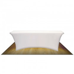8FT CONTOUR STRETCH TABLE COVER (NO IMPRINT)