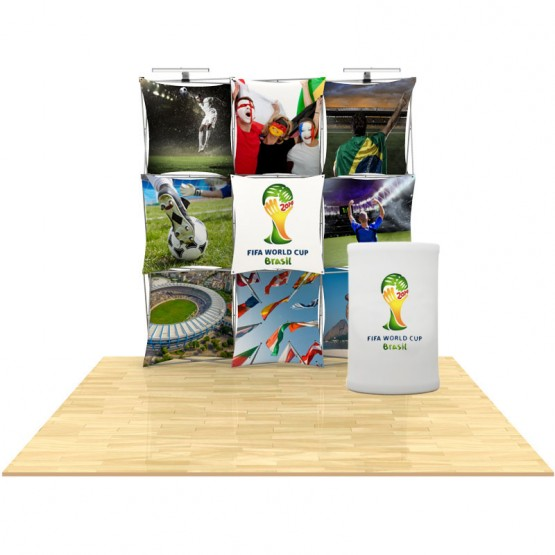 8ft 3D SNAP Pop-Up Display Layout 1