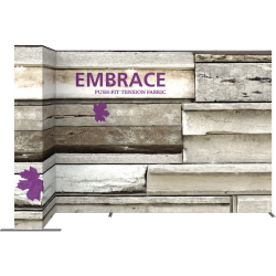 Embrace™ L-Shape 11ft Push-Fit Display