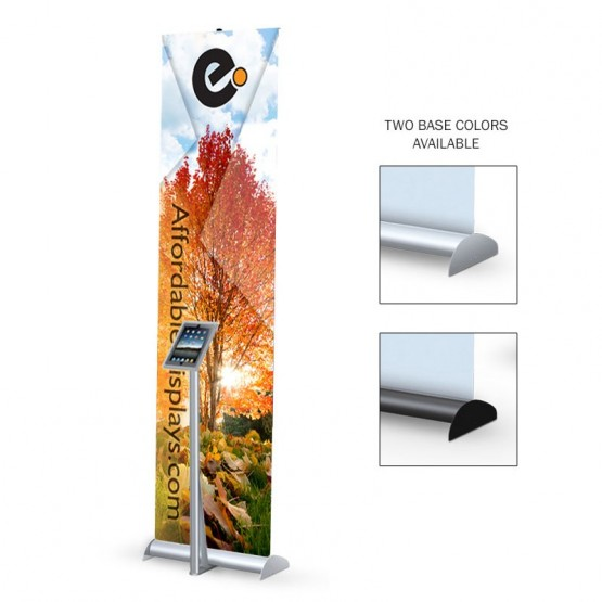 "Mercury Hybrid 24"" Retractable Banner Stand iPad Mount"