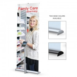 "Mercury Hybrid 36"" Retractable Banner Stand w/ iPad kit"