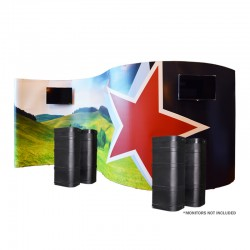 20FT 1UP SERPENTINE GRAPHIC POP-UP MEDIA KIT