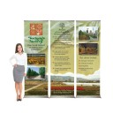 """EZ Pull-up 28"""" Retracting Banner Stand"""