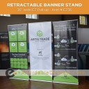 "EZ Pull-up 36"" Retracting Banner Stand"