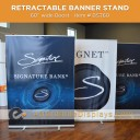 "Boost 60"" wide Retracting Banner Stand"