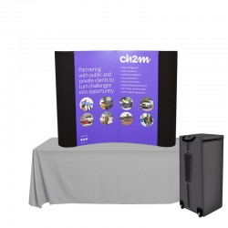 5ft 1UP Graphic/Fabric Pop-Up Display Kit