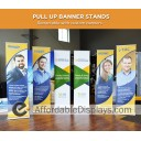 """EZ Pull-up 24"""" Retracting Banner Stand"""