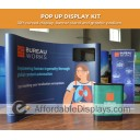 10FT 1UP CURVED GRAPHIC POP-UP MEDIA KIT