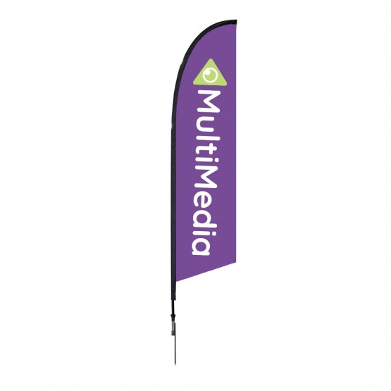 7 ft. XSmall Falcon Flag Single Sided Graphic Package
