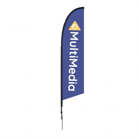 10.5 ft. Medium Falcon Flag Single Sided Graphic Package