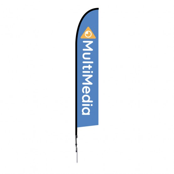 14 ft. Large Falcon Flag Single Sided Graphic Package