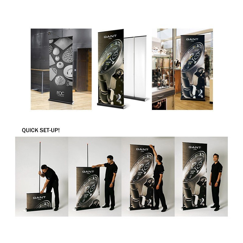 how to change retractable banner stand