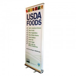 "Take2 33"" Double Sided Retracting Banner Stand"