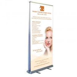 "Take2 40"" Double Sided Retracting Banner Stand"