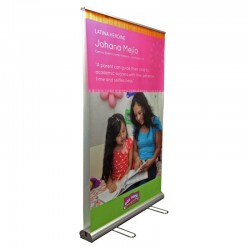 "TwinStand 47"" Double Sided Retracting Banner Stand"