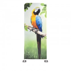 Wave Tube Spruce Tension Fabric Banner Stand
