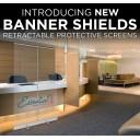 """23.5"""" Retractable Banner Shield"""