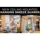 """30""""w x 36""""h Ceiling Mounted Sneeze Guard"""