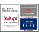 """12""""x12"""" Social Distancing Outdoor Chair Covers w/ Stock Design (SOLD IN PACKS OF 8)"""