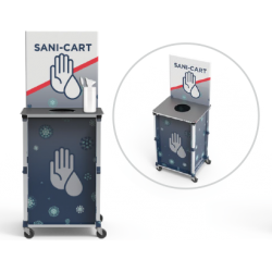 Mini Pop-Up Sanitizing Cart