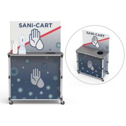 Large Pop-Up Sanitizing Cart