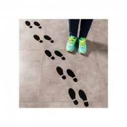 Social Distancing Footprint Floor Decals