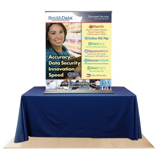"""EZ Pull-Up 44"""" Table Top Banner Stand"""