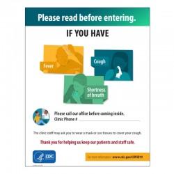 "Please Read Before Entering 8"" X 10"" Metal Desk Sign"