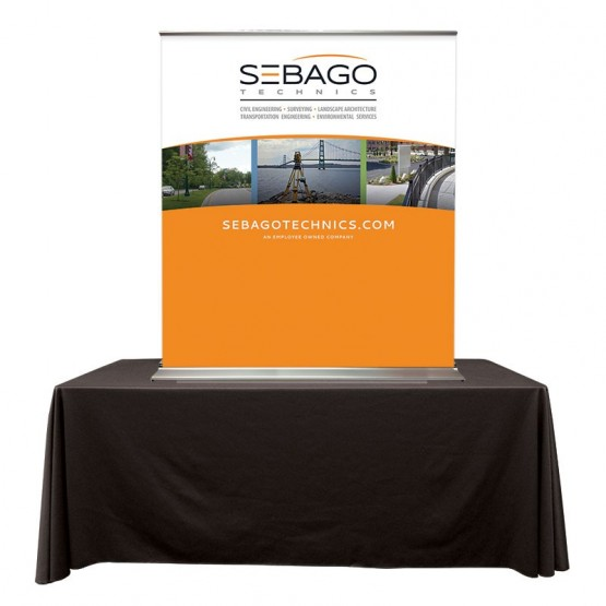 "SuperScreenXL 48"" Table Top Banner Stand"