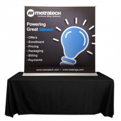 "SuperScreenXL 60"" Table Top Banner Stand"