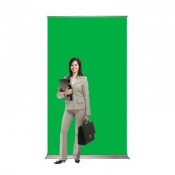 "SuperScreenXL 48"" wide Retracting Green Screen Banner Stand"