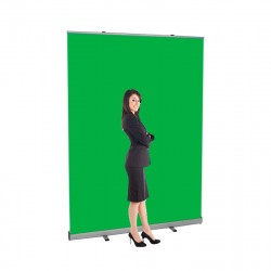 "Boost 60"" wide Retracting Green Screen Banner Stand"