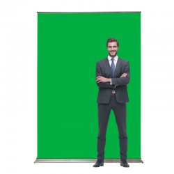 "SuperScreenXL 48"" Retracting Banner Stand"