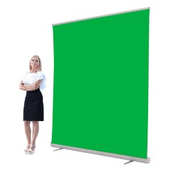 Jumbo 6ft Retracting Green Screen Banner Stand