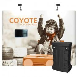 10ft Coyote Full Graphic Panel Straight Media Kit
