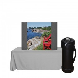 4ft Coyote Fabric/Graphic Straight Table Top Kit