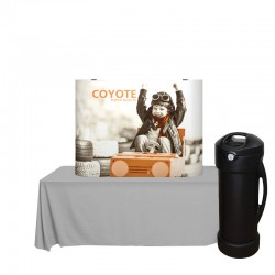 4ft Coyote Full Graphic Straight Table Top Kit