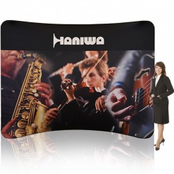 10ft Lunar Curved Tension Fabric Display